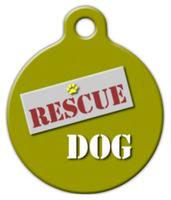 Dog Tag Art Rescue Dog Pet ID Dog Tag