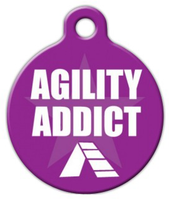 Dog Tag Art Agility Addict Pet ID Dog Tag