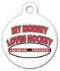 Dog Tag Art My Mommy Loves Hockey Pet ID Dog Tag