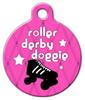 Dog Tag Art Roller Derby Doggie Pet ID Dog Tag