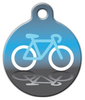 Dog Tag Art Bicycle Icon Pet ID Dog Tag
