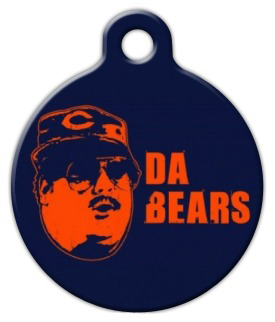 Dog Tag Art Da Bears Chicago Bears Pet ID Dog Tag