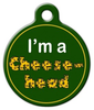 Dog Tag Art Green Bay Packers Cheese Head Pet ID Dog Tag