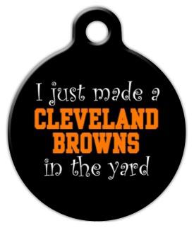 Dog Tag Art Anti Cleveland Browns Pet ID Dog Tag