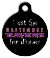 Dog Tag Art Anti Baltimore Ravens Pet ID Dog Tag