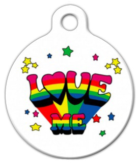 Dog Tag Art Love Me Pet ID Dog Tag