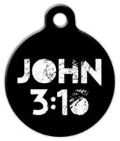 Dog Tag Art John 3:16 Pet ID Dog Tag