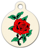 Dog Tag Art Classic Rose Tattoo Pet ID Dog Tag