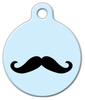Dog Tag Art Happy Moustache Pet ID Dog Tag