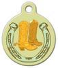 Dog Tag Art Cowboy Boots Pet ID Dog Tag