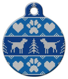 Dog Tag Art Ugly Men's Sweater Pet ID Dog Tag