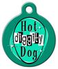 Dog Tag Art Retro Hot Diggity Dog Pet ID Dog Tag