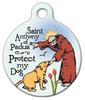 Dog Tag Art Saint Anthony of Padua, Protect My Dog Pet ID Dog Tag