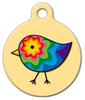 Dog Tag Art Colorful Chick Pet ID Dog Tag