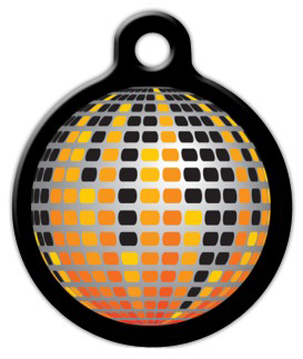 Dog Tag Art Disco Ball Pet ID Dog Tag