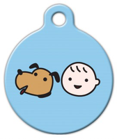 Dog Tag Art A Boy and His Dog Pet ID Dog Tag