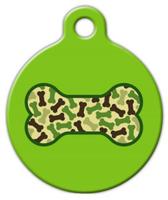 Dog Tag Art Army Bone Pet ID Dog Tag
