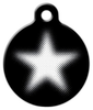 Dog Tag Art Halftone Star Pet ID Dog Tag