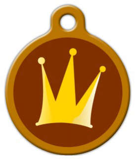 Dog Tag Art The Crown Pet ID Dog Tag