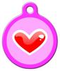 Dog Tag Art Red Heart Pet ID Dog Tag
