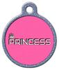 Dog Tag Art Princess Pet ID Dog Tag