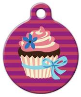 Dog Tag Art Cupcake Pet ID Dog Tag