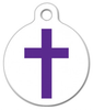 Dog Tag Art Christian Cross Pet ID Dog Tag