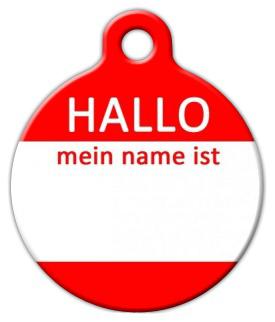Dog Tag Art Hello My Name Is GERMAN Pet ID Dog Tag
