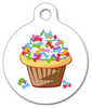 Dog Tag Art Cupcake with Bones Pet ID Dog Tag