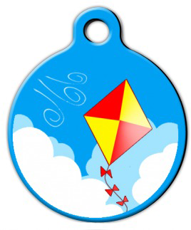 Dog Tag Art Blowin' in the Wind Pet ID Dog Tag