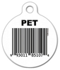 Dog Tag Art Bar Code Pet ID Dog Tag