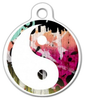 Dog Tag Art Colorful Yin Yang Pet ID Dog Tag