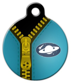 Dog Tag Art Spaceman Suit Pet ID Dog Tag