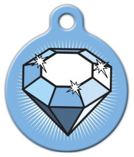 Dog Tag Art Big Diamond Pet ID Dog Tag