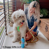 hamiltonnharper and his mom wearing coastal pet pro reflective harness and leash