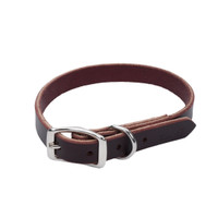 Circle T Leather Latigo Town Dog Collar (2103)