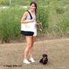 Sadie and her mom on a walk wearing Coastal Pet K9 Explorer Slip Rope Leash