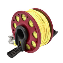 Aluminum Finger Spool 100ft Dive Reel w/ Retractable Holder