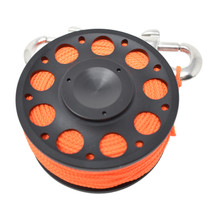 Aluminum Finger Spool 100ft Dive Reel w/ Spinning Holder