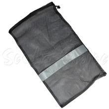 """Scuba Choice Dive Drawstring Gray Mesh Bag  for Wetsuit or Gear 31"""" x 18"""""""