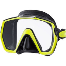 Tusa Freedom HD Mask - Black Silicone/Flash Yellow