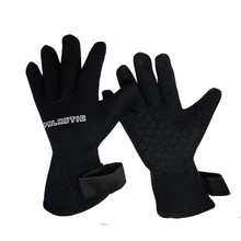 Spearfishing Palantic Black 3mm Neoprene Gloves Extra Warmth Titanium Coating