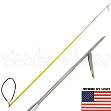 5' One Piece Spearfishing Fiber Glass Pole Spear 1 Prong Single Barb Tip