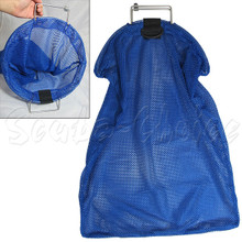 Spearfishing 5mm Stainless Steel Wire Handle Blue Fish Bag Net Mesh
