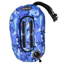 Palantic Diving Donut Wing Single Tank 30lbs, Blue Camo w/ Black Accent