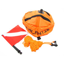 Palantic Scuba Diving Spearfishing Nylon Ball Shape Float with Dive Flag