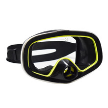 Scuba Diving Stainless Steel Outer Frame One-Window Rubber Mask w/Purge