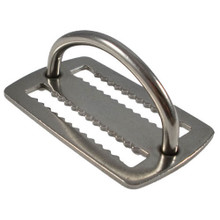 Scuba Diving Stainless Steel Weight Belt Keeper with D-ring