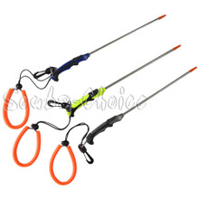 """Scuba Choice 13-3/4"""" Stainless Steel Lobster Tickle Stick with Clip and Lanyard"""