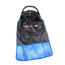 Palantic Black Lobster Fish Catch Gear Nylon Game Bag Net with Plastic Handle